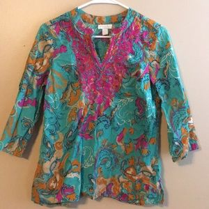 Multi colored blouse